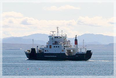 The Skye Ferry sailing between Armadale and Mallaig
